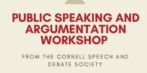 Q Week: Public Speaking and Argumentation Workshop