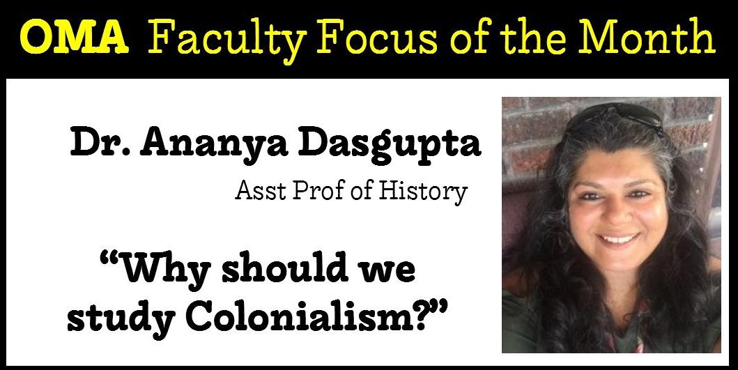 CANCELED*Faculty Focus: Dr. Ananya Dasgupta