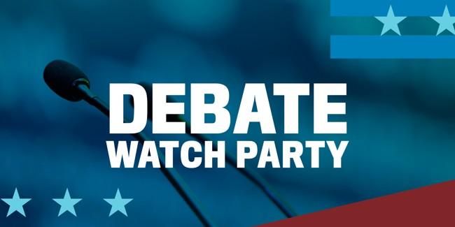 Debate Watch Party Event Logo