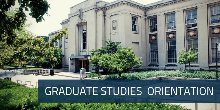 Graduate Studies New Student Orientation Events Event Logo