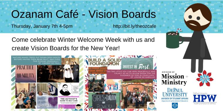 Vinny Vision Boards x Ozanam Cafe Event Logo