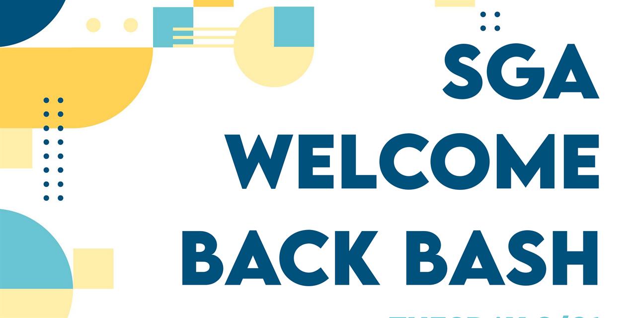 SGA Welcome Back Bash Event Logo