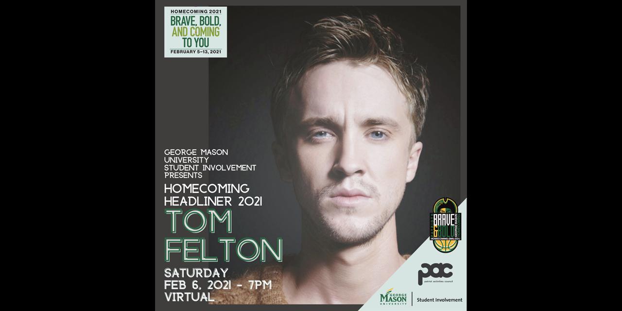 Homecoming Headliner: Tom Felton Event Logo