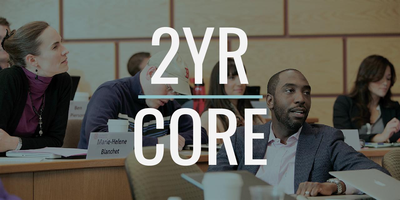 Core Team Practicum: 2YR MBA Class of 2022 Event Logo