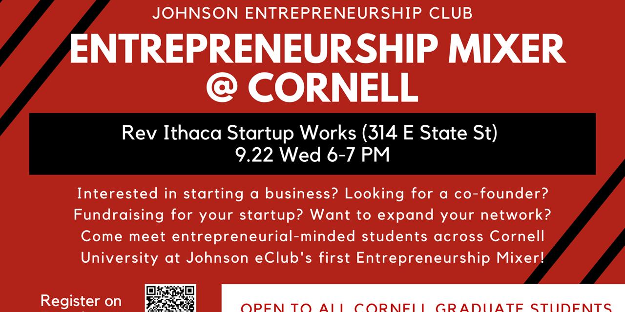Entrepreneurship Mixer @ Cornell Event Logo
