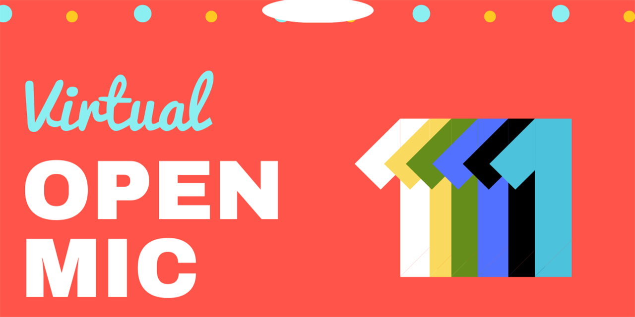 Virtual Open Mic Event Logo