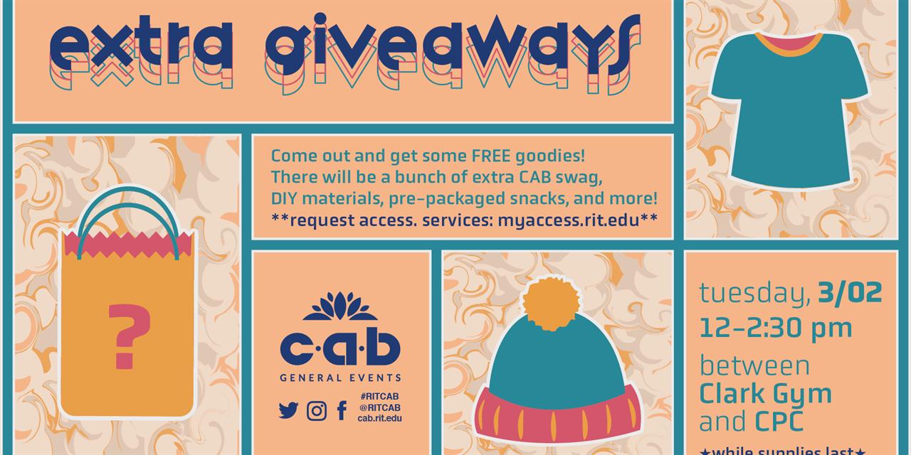 CAB General Presents: Extra Giveaways Event Logo