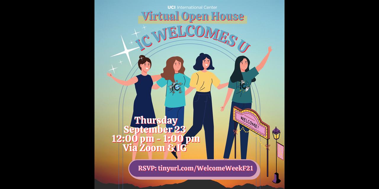 International Center's Open House - IC Welcomes U! Event Logo