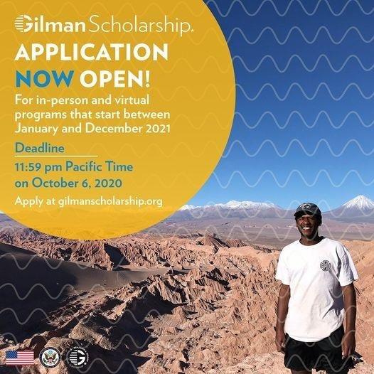 Gilman Scholarship Application Now Open