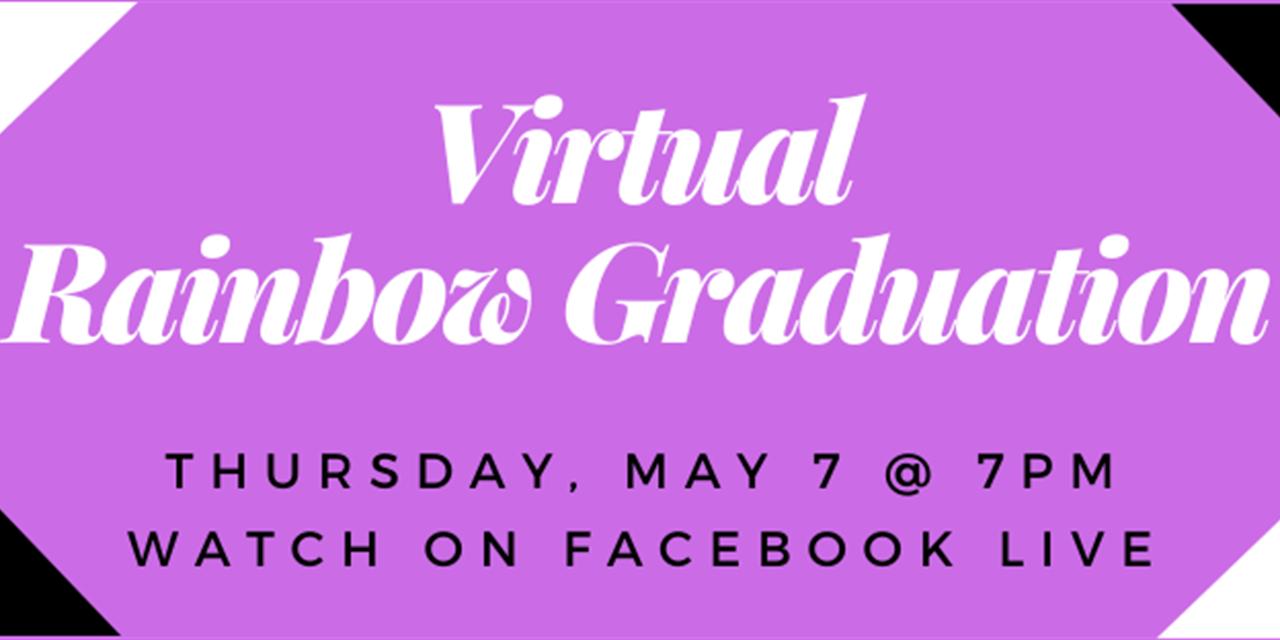 Virtual Rainbow Graduation Event Logo