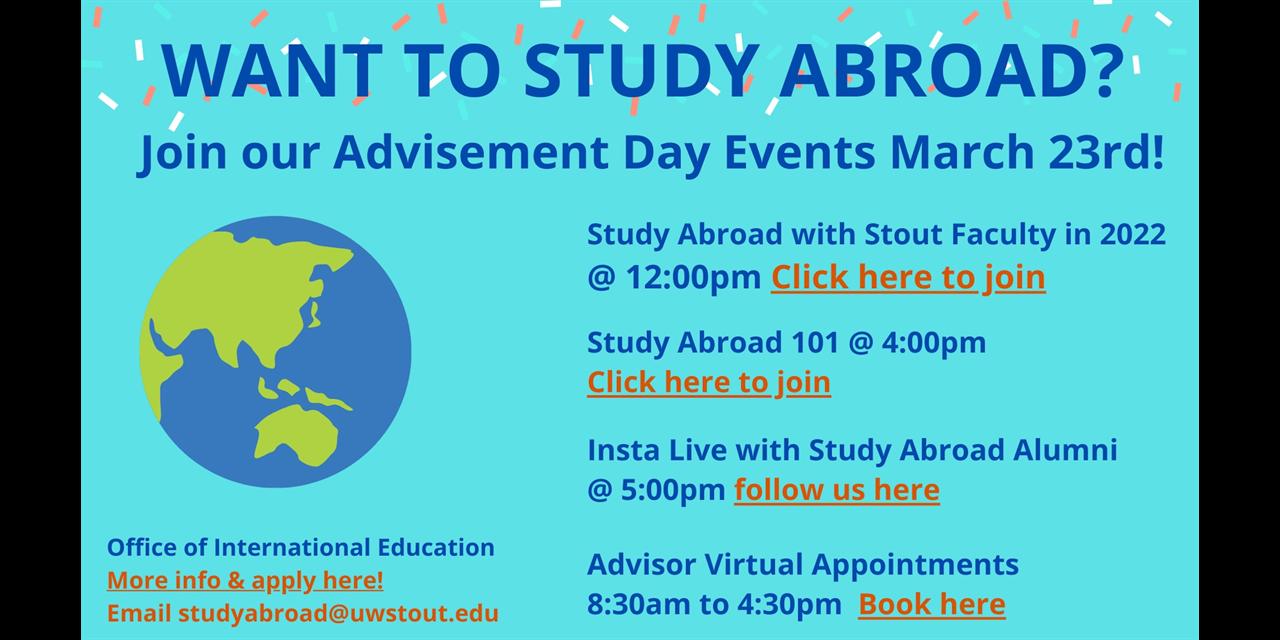 Study Abroad Advisement Day Event Logo