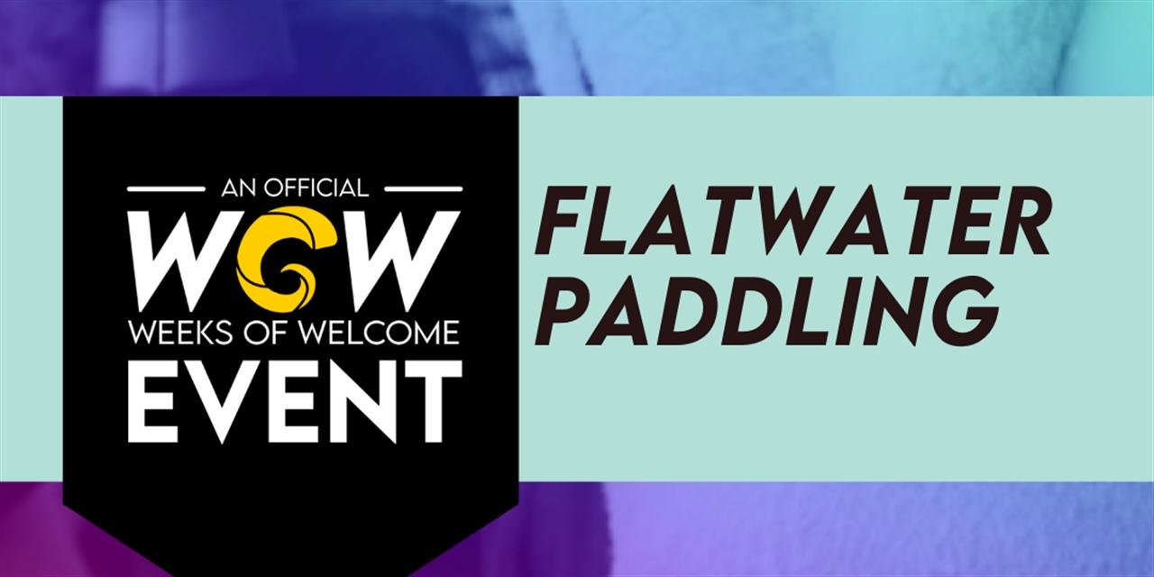 Flatwater Paddling Event Logo