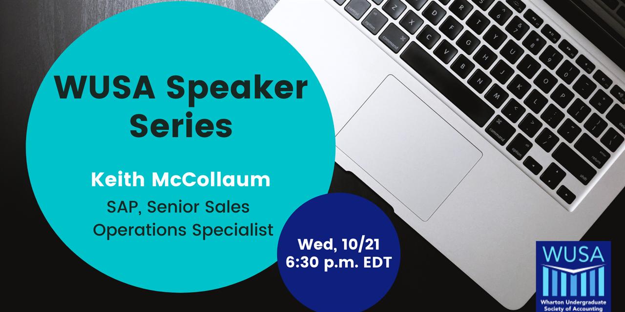 WUSA Speaker Series - Keith McCollaum, SAP