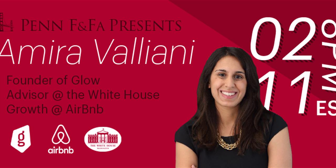 Amira Valliani: Founder of Glow || Formerly @ AirBnb & Obama White House Event Logo