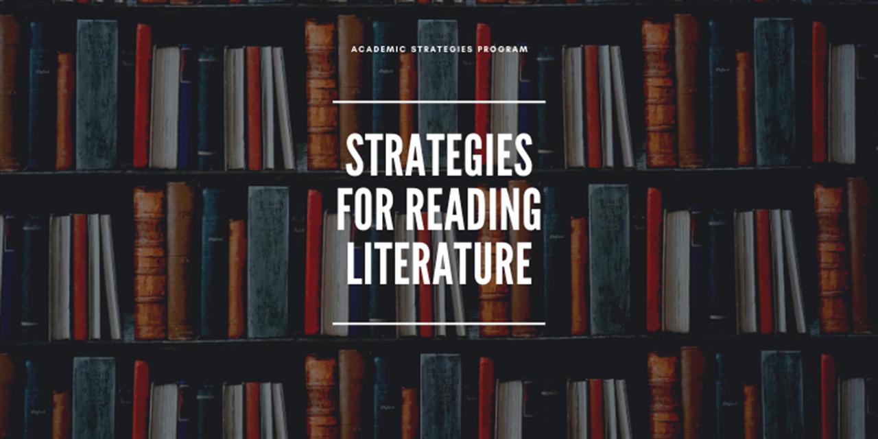 Strategies For Reading Literature Event Logo