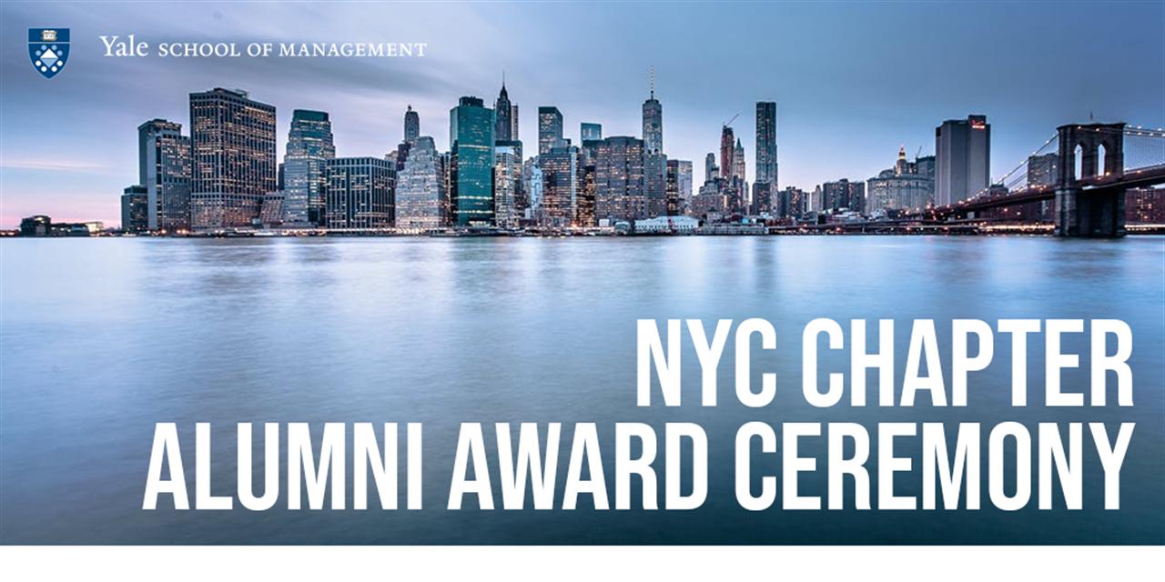[VIRTUAL] Yale SOM NYC Chapter Alumni Award Ceremony Event Logo